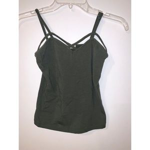 Heart and hips - olive green size large top